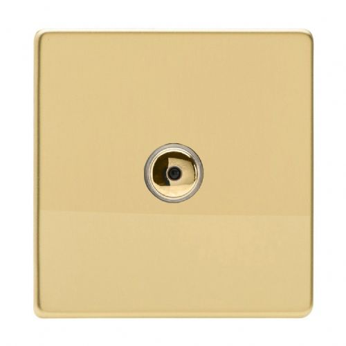 Varilight IJDVI101S Screwless Polished Brass 1 Gang Remote/Touch Master LED Dimmer 0-100W